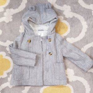 Carter's gray coat peacoat